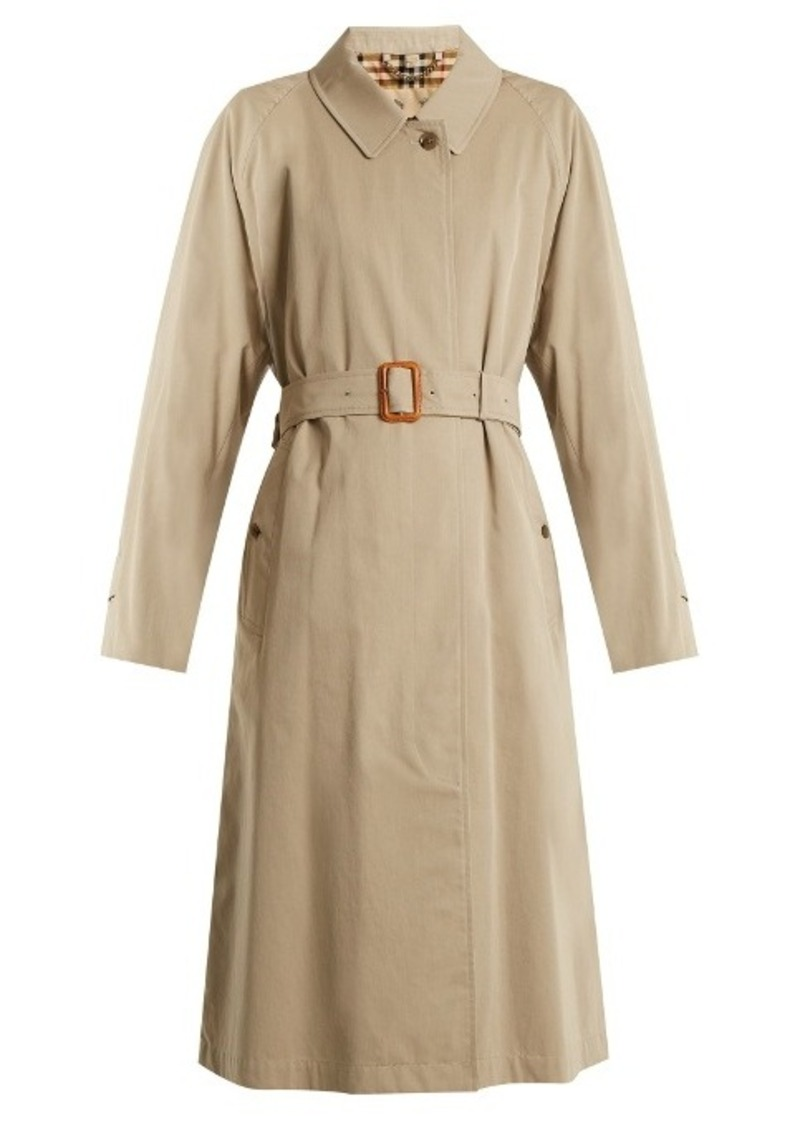Burberry Burberry Brighton long cotton-gabardine trench coat   Outerwear 87270fb75e6