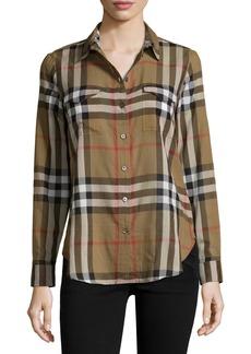 Burberry Long-Sleeve Cotton Check Shirt