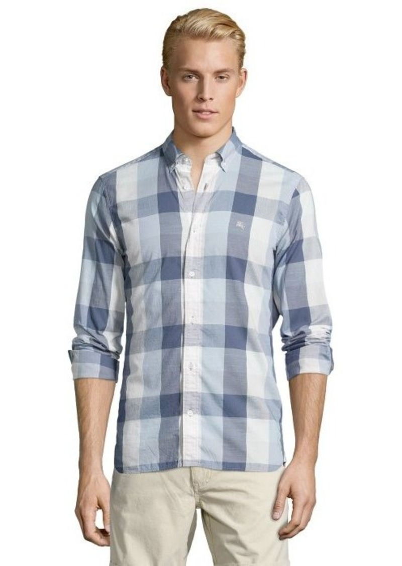 On sale today burberry burberry brit pale grey plaid for Burberry brit plaid shirt