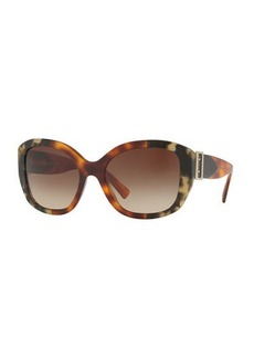 Burberry Buckle-Temple Acetate Sunglasses