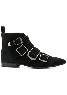 Burberry buckled ankle boots - Black