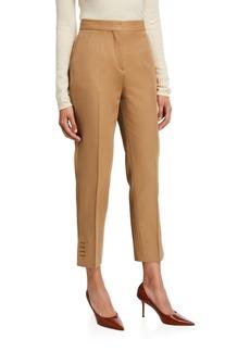 Burberry Button-Seam Cuff Trousers
