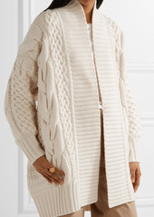 Burberry Burberry Cable-knit wool and cashmere-blend cardigan ...