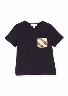 Burberry Callum Check-Pocket Jersey Tee