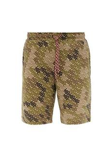 Burberry Camile camo-print jersey shorts