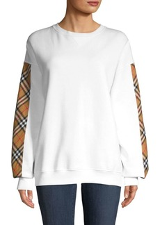 Burberry Camilla Satin Panel Sweatshirt
