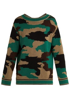 Burberry Camouflage knitted cotton sweater
