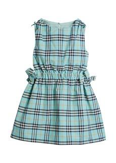 Burberry Candra Cutout Tie Check Dress