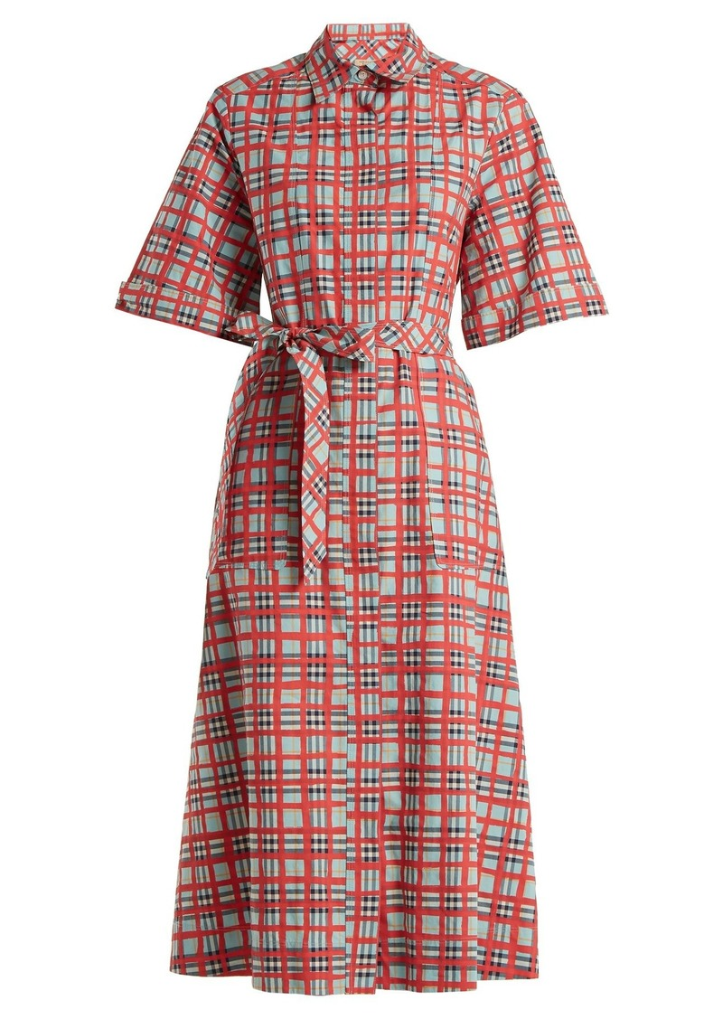 Burberry Burberry Carmen checked cotton shirt dress Now $526.00