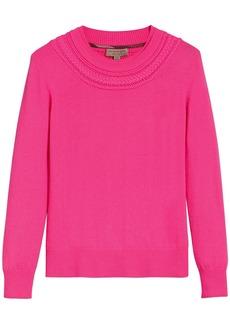Burberry cashmere cable knit sweater - Pink & Purple