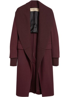 Burberry cashmere detachable collar coat - Red