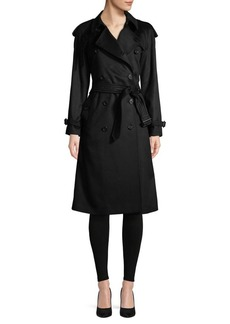 Burberry Double-Breasted Cashmere Trench Coat