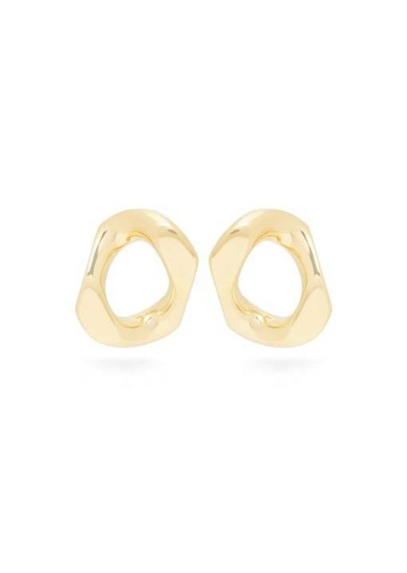 Burberry Chain link gold-plated earrings