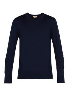 Burberry Check-insert merino-wool sweater
