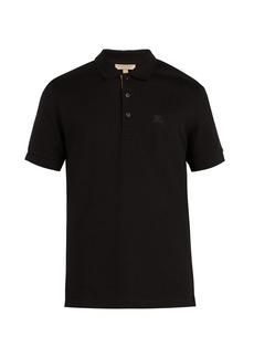 Burberry Check-placket cotton-piqué polo shirt