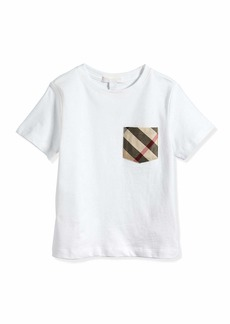 Burberry Check-Pocket Crewneck Tee