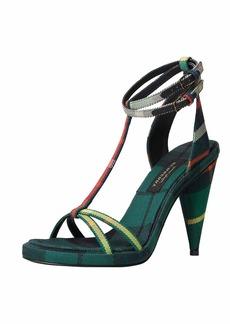 Burberry Check-Print Ankle-Wrap Sandal