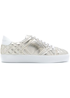 Burberry Check-quilted sneakers - Metallic
