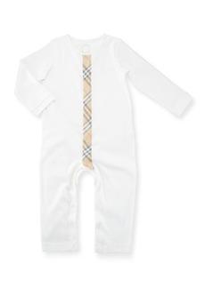 Burberry Check-Stripe Cotton Footie Pajama