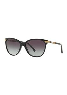 Burberry Check-Trim Cat-Eye Sunglasses