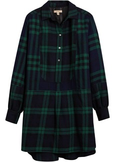 Burberry check tunic dress - Blue