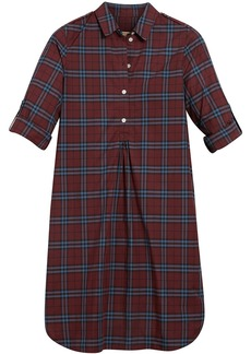 Burberry check tunic dress - Red