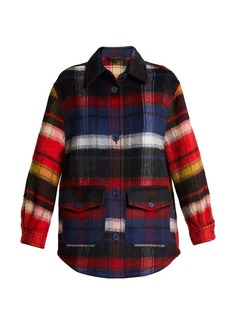 Burberry Checked alpaca-blend overshirt