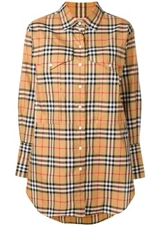Burberry checked button shirt - Yellow & Orange