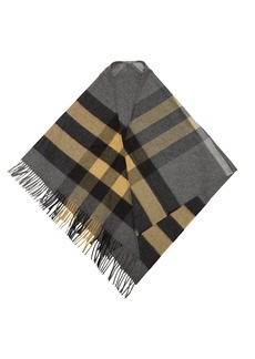 Burberry Checked cashmere bandana scarf