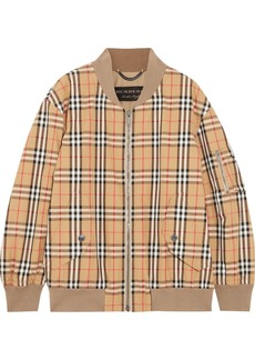 Burberry Checked cotton-twill bomber jacket