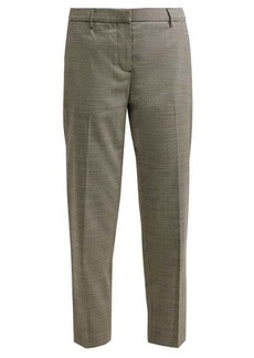 Burberry Checked cropped wool-blend trousers