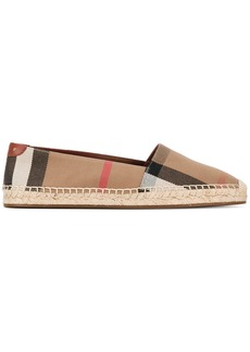 Burberry checked espadrilles - Nude & Neutrals