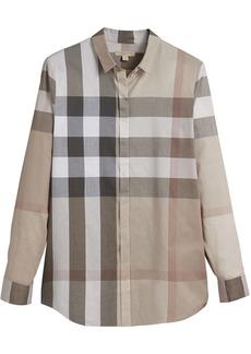 Burberry Check Cotton Shirt - Nude & Neutrals