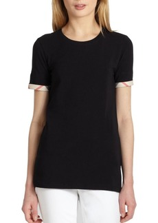 Burberry Checkered Cuff Tee