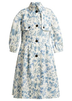 Burberry China floral-print linen coat