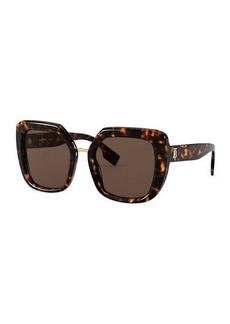 Burberry Chunky Square Acetate Sunglasses