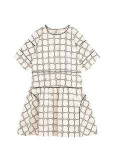Burberry Cici Floral Plaid Short-Sleeve Dress  Size 3-14