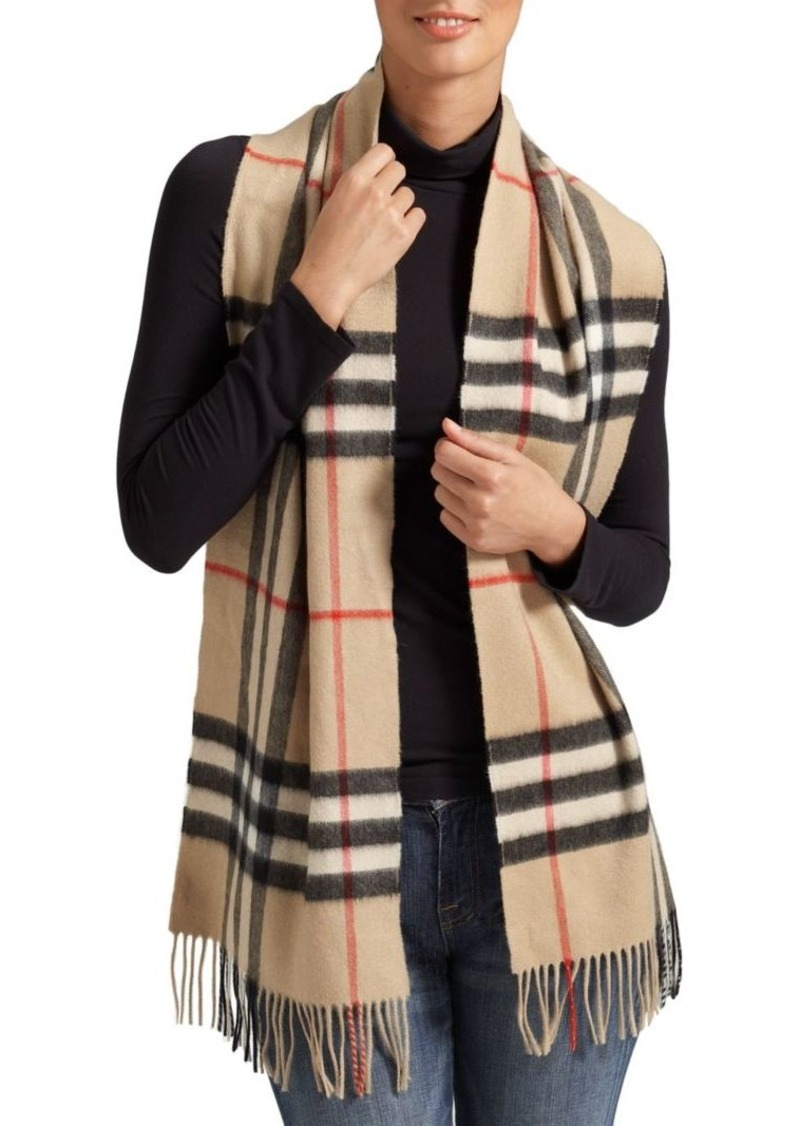 a4a0ab837d Burberry Classic Giant Check Cashmere Scarf   Misc Accessories