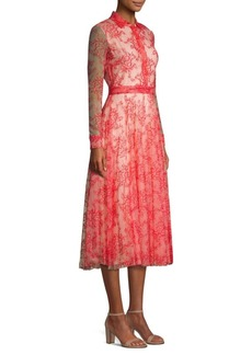 Burberry Clementine Pleated Lace Shirtdress