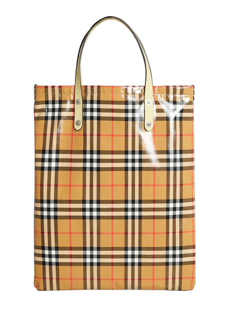 0d3528e507c9 Burberry Coated Vintage Check Medium Shopper Tote Bag