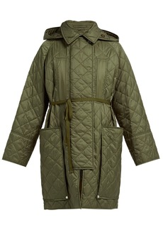 Burberry Coleraine single-breasted quilted shell coat