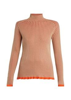 Burberry Contrast-trim cashmere-blend sweater