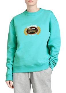 Burberry Copes Crewneck Logo Crest Sweatshirt