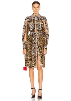 Burberry Costanza Animal Print Dress