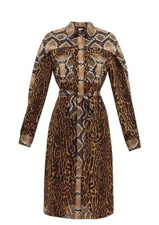 Burberry Costanza animal-print silk-crepe shirtdress