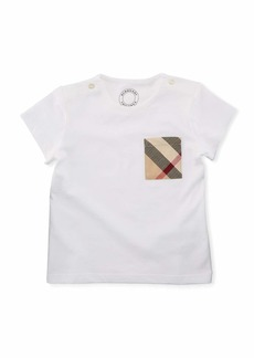 Burberry Cotton Check-Pocket Jersey Tee