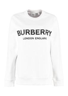 Burberry Cotton Sweatshirt With Logo