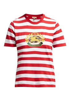 Burberry Crest-embroidered cotton T-shirt