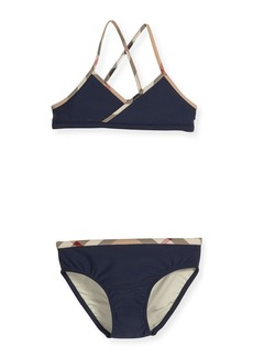 Burberry Crosby Cross-Back Two-Piece Swimsuit