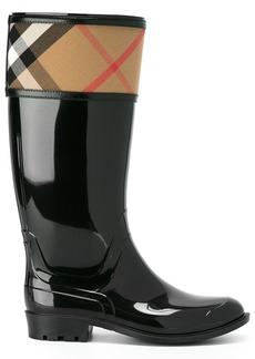 Burberry House Check Rain Boots - Black